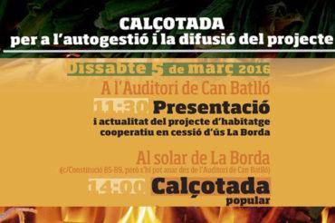 Calçotada de la Borda dissabte 5 de març a Can Batlló