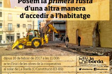 Iniciem les obres de la cooperativa d'habitatge la Borda!