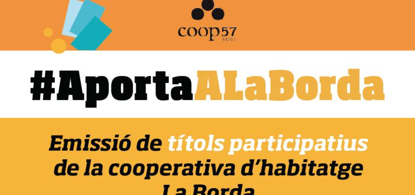Encetem l'emissió de títols participatius a través de Coop57!!