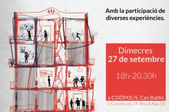 Participamos en el análisis de 3 aspectos clave de la vivienda cooperativa en Can Batlló