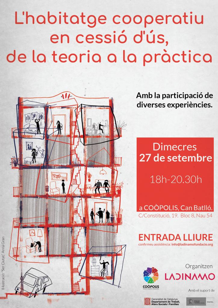 Participem en l'anàlisi de 3 aspectes clau de l'habitatge cooperatiu a Can Batlló